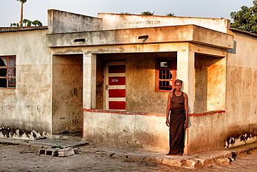Woman in her house in Chalucuane, Mozambique