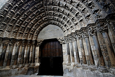 Judgment portic of Santa Maria¥s cathedral in Tudela, Navarra, Spain