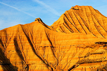 Piskerra mountain in Bardenas Reales, Navarra, Spain