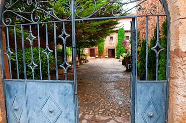 House entrance. Ayllon, Segovia province, Castilla Leon, Spain.