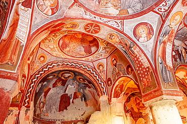 Apple Church or Elmali Kilise, Interior, Goreme National Park, Cappadocia, Turkey, Unesco World Heritage Site