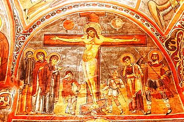 Dark Church or Karanlik Kilise, Goreme National Park, Cappadocia, Turkey, Unesco World Heritage Site