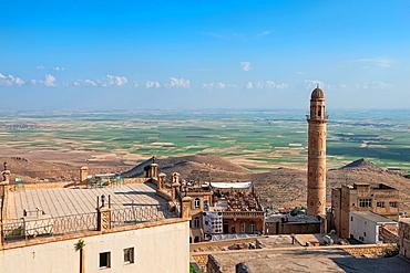 Sehidiye mosque minaret, Mardin, Anatolia, Eastern Turkey