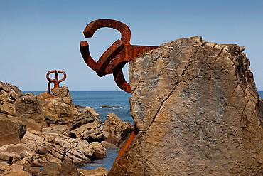 ¥Peine de los vientos¥ by Eduardo Chillida, San Sebastian, Gipuzkoa, Spain