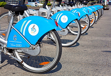 Bikes in Santander, Cantabria, Spain