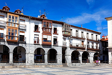 City council square, Castro Urdiales, Cantabria, Spain