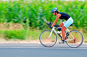 Juliana Buhring on her quest to be the first woman to cycle around the globe near the city of Buhl in southern Idaho
