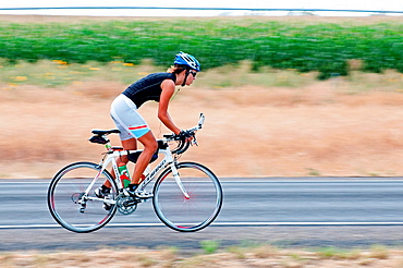 Juliana Buhring on her quest to be the first woman to cycle around the globe near the city of Filer in southern Idaho