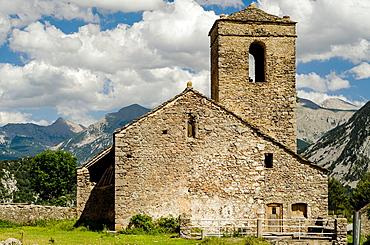 San Martin church, Tella, Escuain Valley, Huesca, Pyrenees, Spain