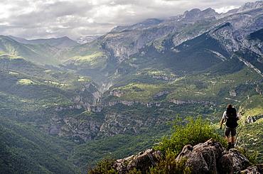 Escuain Valley panoramic views, Huesca pyrenees, Spain