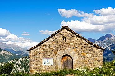 Virgen de la Pena Chapel, Tella  Escuain Valley, Huesca, Aragon, Pyrenees