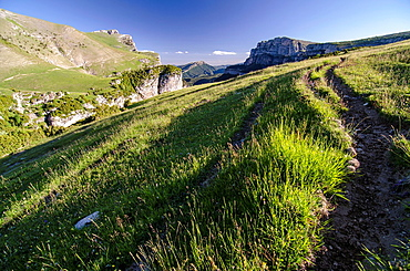 Pastureland at Ordesa & Monte Perdido National Park, Huesca, Aragon, Spain Pyrenees
