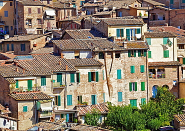 Typical Homes in Cortona on a Warm Sunny Day
