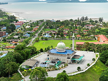Aerial image of a Mosque in Mersing
