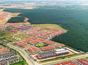 Suburban track housing developments in Johor