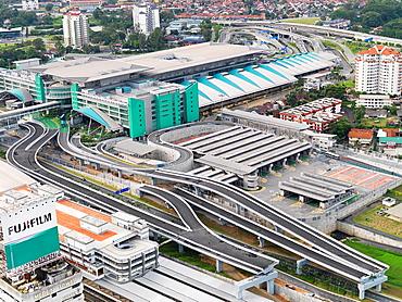 The Johor Bahru Customs, Immigration and Quarantine complex CIQ known as the Sultan Iskandar Customs, Immigration and Quarantine Complex named after Sultan Iskandar of Johor