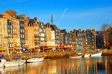 harbour buildings and yaughts  Honfleur, Normandy, France
