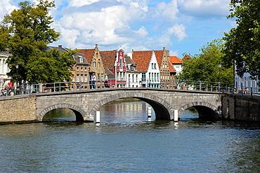 Bridge over canal, Bruges,West Flanders, Belgium