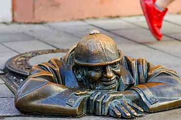 Cumil the Workman Sculpture, Bratislava, Slovakia, Europe
