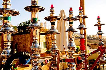 Narguiles, Kempinski Hotel, Dead Sea, Jordan, Middle East.