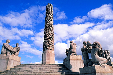 Sculptures by Gustav Vigeland at the Famous Frogner Park Oslo Norway