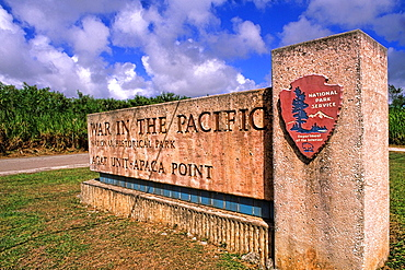 Historical Military War in the Pacific in WWII in Guam USA