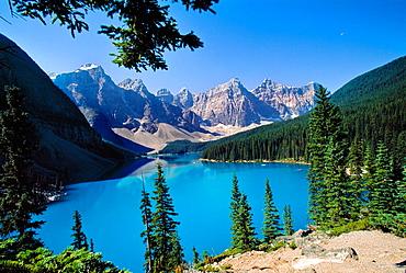 Moraine Lake Banff National Park Rocky Mountains Alberta Canada.