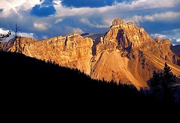 Cathedral Mountain 3073 Mts Yoho National Park Rocky Mountains British Columbia Canada.