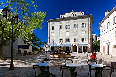 France, Corsica, Haute-Corse Region, Le Nebbio, St-Florent, Place Doria