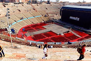 Verona Italy Verona Festival inside the Roman amphitheater in Verona City