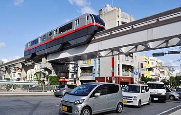 Naha Japan, the Urban Monorail-Yui Rail