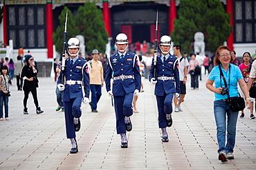 Changing Guards Matyrs¥ Shrine Taipei Taiwan