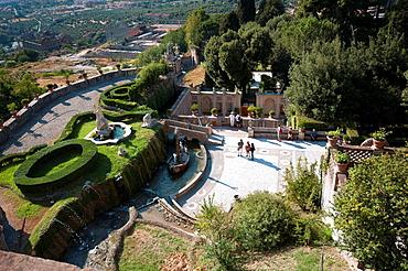Italy, Lazio, Tivoli, Villa d¥Este, The Rometta Fountain
