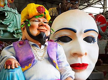 New Orleans, Louisiana, Details of a Mardi Gras float at Blaine Kern Studios¥ Mardi Gras World Visitors can tour the warehouse-sized studio