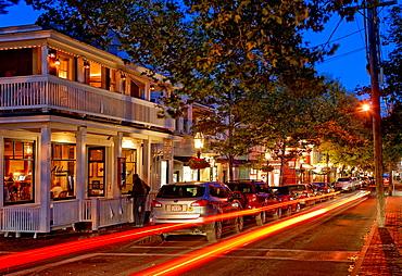 Edgartown nightlife, Martha's Vineyard, Massachusetts, USA