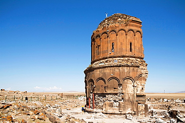 Church Of The Redeemer Or Church Of St Prkitch, Ani Ruins, Kars Area, North-Eastern Anatolia, Turkey, Asia