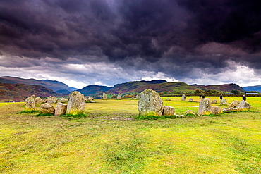 Castlerigg Stone Circle in the Lake District National Park, Keswick, Cumbria, England, UK, Europe