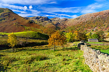 Autumn landscape, Dovedale valley in the Lake District National Park, Cumbria, England, UK, Europe