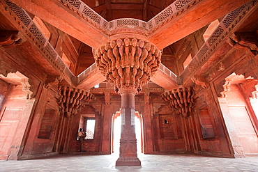 Diwan-i-Khas, or Hall of Public Audience, Fatehpur Sikri, India, a UNESCO World Heritage Site