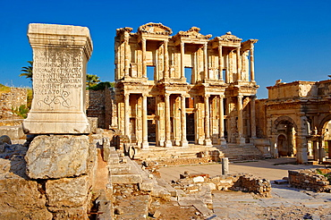 Picture of The library of Celsus Images of the Roman ruins of Ephasus, Turkey Photos Stock Picture & Photo art prints