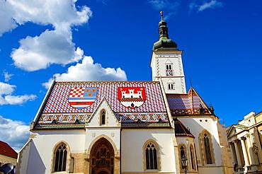 Late Gothic church of St Mark¥s Church Crkva sv Marka , Zagreb, Croatia