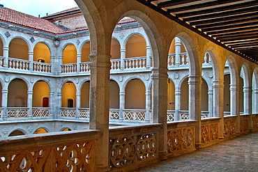 Cloister of Palacio de Santa Cruz, Renaissance architecture, Valladolid, Castille and Leon, Spain