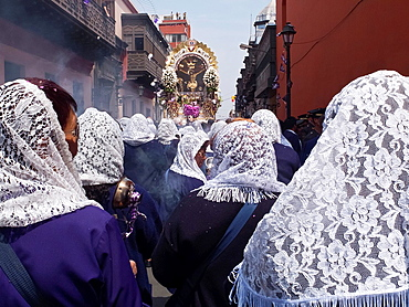 Lord of Miracles Procession in Lima city Peru