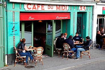 Cafe du Midi, Quai Galuperie, La petit Bayonne, Bayonne, Aquitaine, Pyrenees Atlantiques, France.