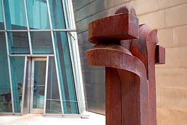 Eduardo Chillida sculpture, Guggenheim Museum, Bilbo-Bilbao, Biscay, Basque Country, Spain.