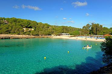 Playa de ses Fonts de Na Lis, Cala Mondrago, Natural Park Mondrago, Santanyi, Migjorn, Mallorca, Balearic Islands, Spain