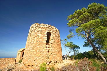 Sa Torre Nova, XVI century, Estellencs Tramuntana, Mallorca, Balearic Islands, Spain