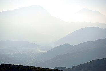 Sierra de Tramuntana from Talaia d¥Albercutx, Pollenca Mallorca Balearic Islands Spain