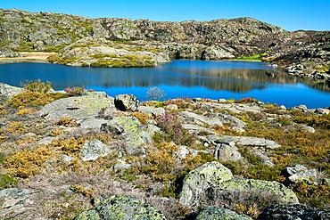 Laguna de Mancas in the Sanabria Natural Park, Zamora province, Castile-Leon, Spain