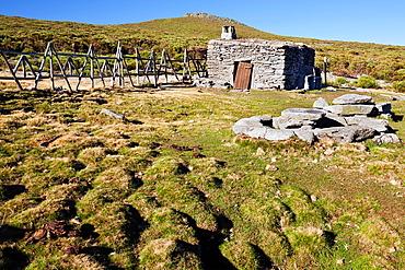 The Cervunales refuge in the Torozo Sierra de Gredos avila Castilla Leon Spain